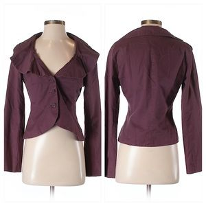 Anthropologie Odille Plum Purple Blazer Jacket